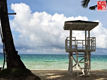 The lifeguard post at the shores of Boracay