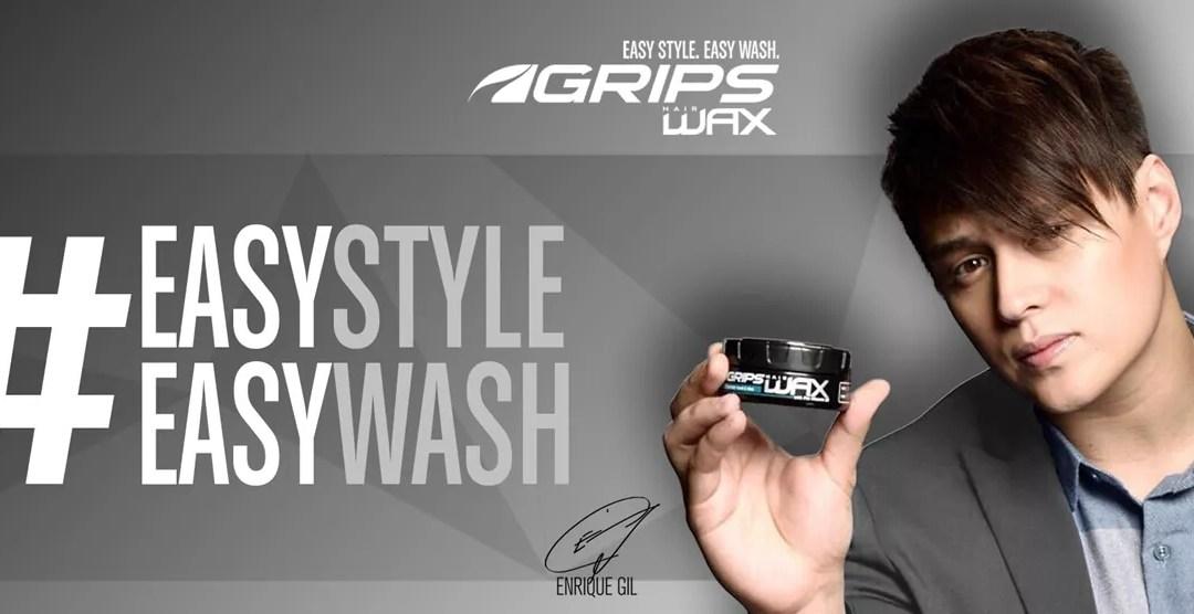 Enrique Gil Endorses GRIPS Hair Wax and Hair Clay