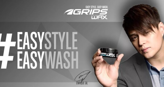 Enrique Gil Endorses GRIPS Hair Wax and Hair Clay