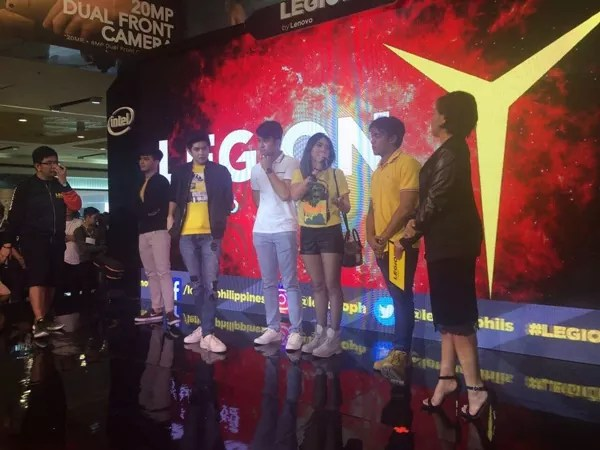 Celebrities at the Legion by Lenovo event