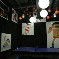 The table tennis area at Google Philippines office