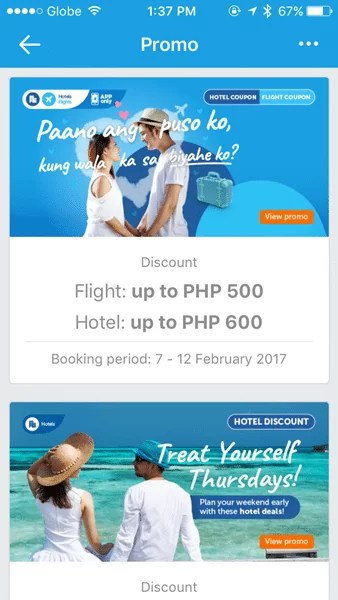 Promos on Traveloka App