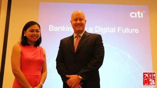 Citi Philippines Director for Corporate Affairs Aneth Lim and Director for Credit Payment Products David Stoughton