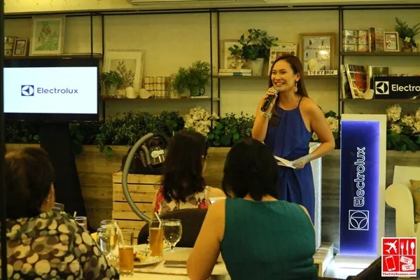 Patty Laurel-Filart hosting the Electrolux Summer-Ready Home event