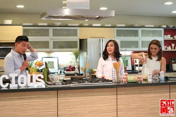 Iya shows her hand in the kitchen