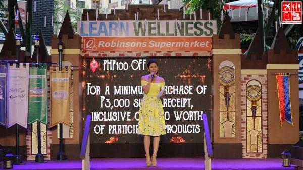 Bianca Valerio hosts the Robinsons Supermarkeet Learn Wellness event
