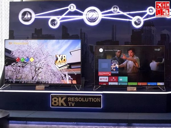 4K TV Powered by Android TV on display at the Sharp Product Launch 2017