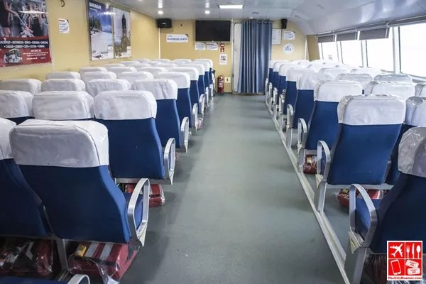The Business Class seats of Fast Cat