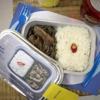 Cebu Pacific inflight menu includes Beef Laing