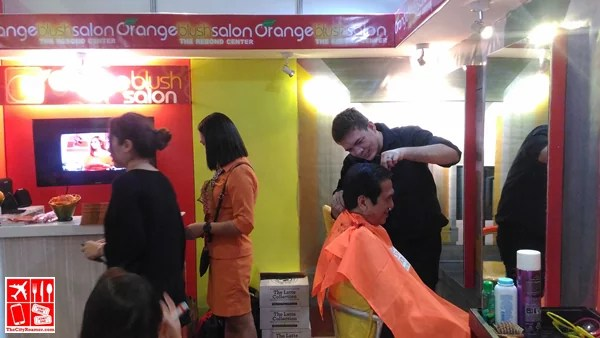 Orange Blush Salon gave lucky visitors a haircut at the at Franchise Asia Philippines Expo