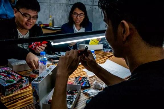 hobbyist working on their models