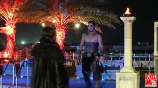 cosplayers strut their stuff during the halloween party