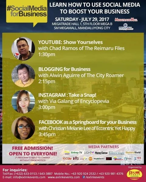 Conducted Blogging for Business Seminar at the Philippine Business and Entrepreneurs Expo