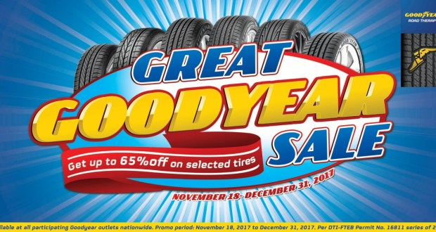Gear Up for your Holiday Drive with the Great Goodyear Sale