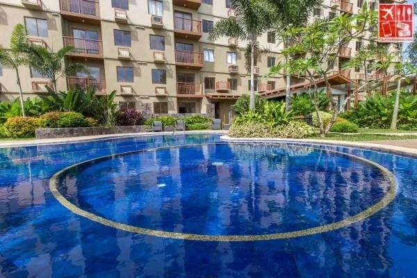Swimming pool near Camia building
