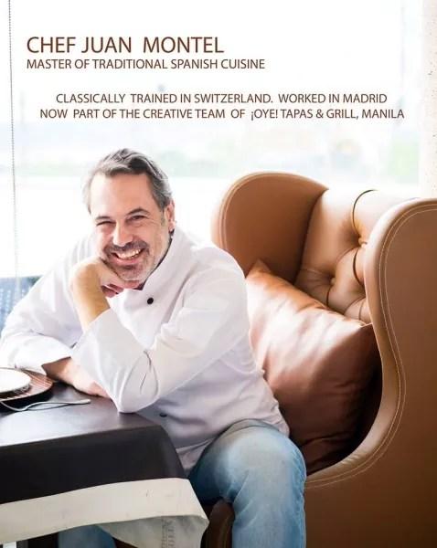 Chef Juan Montel - Part of Oye Tapas & Grill Creative Team