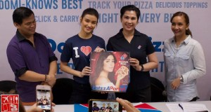 Dominos Pizza Philippines presents the pizza box with Liza on the cover