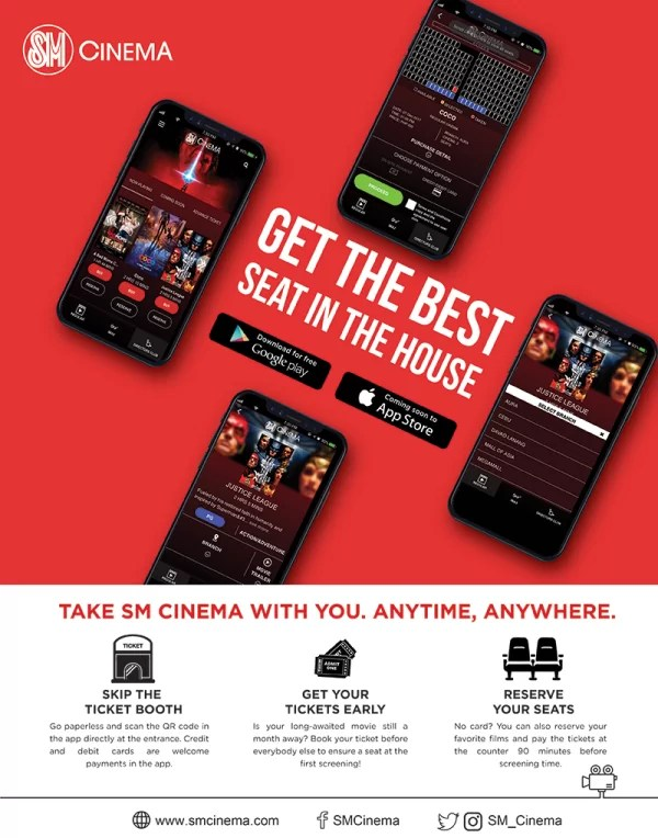 The Best Seat in the House is Yours with the SM Cinema App