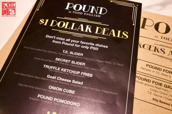 $1 Dollar Deals Promo exclusive at Pound by Todd English Eastwood Mall