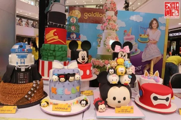 Goldilocks themed cakes on display at the 12th Goldilocks ICDC event