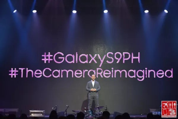 Jerry Manus, Business Unit Head for IT & Mobile, Samsung Electronics Philippines Corporations, welcoming Philippine media and valued partners to the unveiling of the SAMSUNG Galaxy S9 and S9+