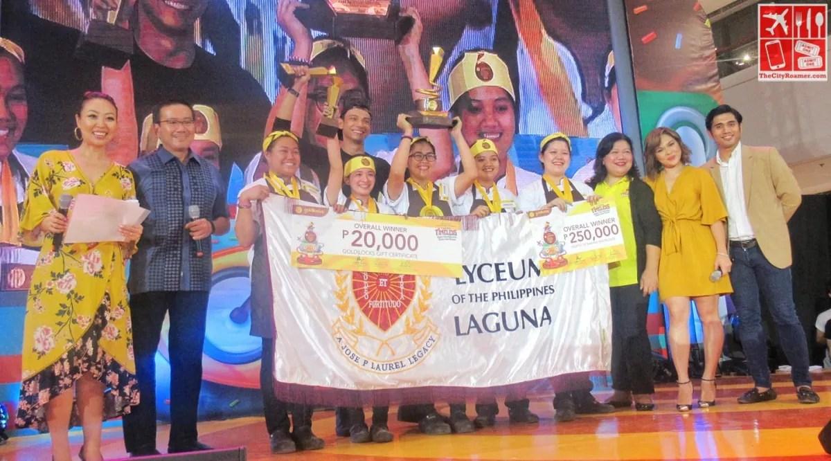 The 12th Goldilocks ICDC grand champion Lyceum of the Philippines-Laguna