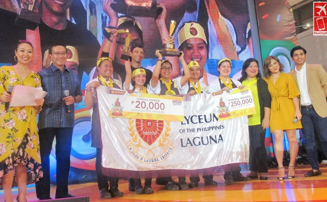 The 12th Goldilocks ICDC grand champion Lyceum of the Philippines-Laguna
