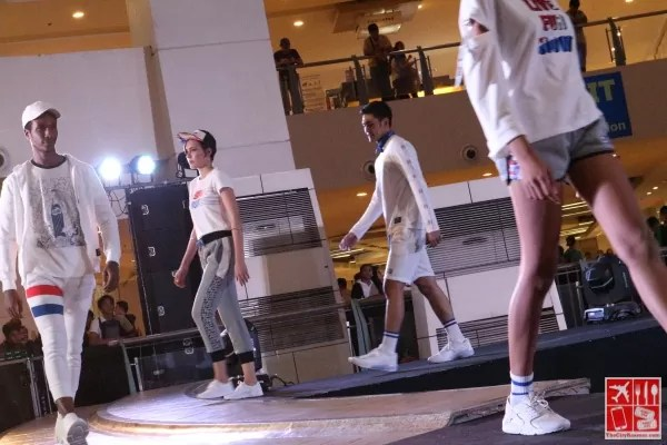 Models walk the runway wearing the #BUMxPepsi Collection
