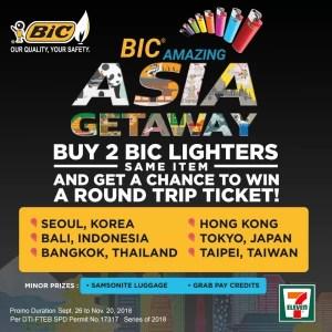 Bic Amazing Asia Getaway promo