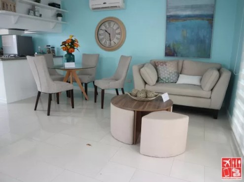 Living space of a model house in Metro Manila HIlls