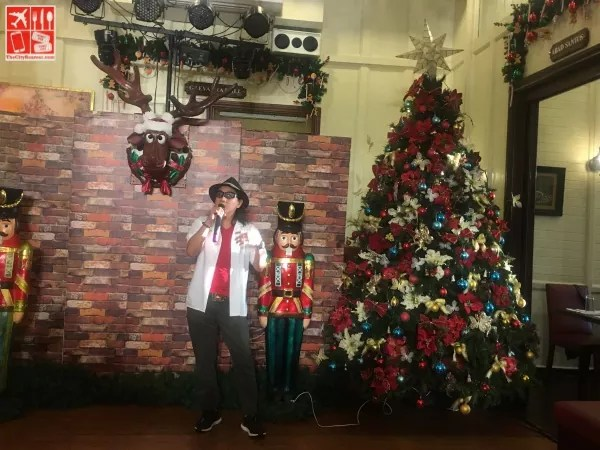 Chef Lau leads the Christmas Tree Lighting at Guevarra's