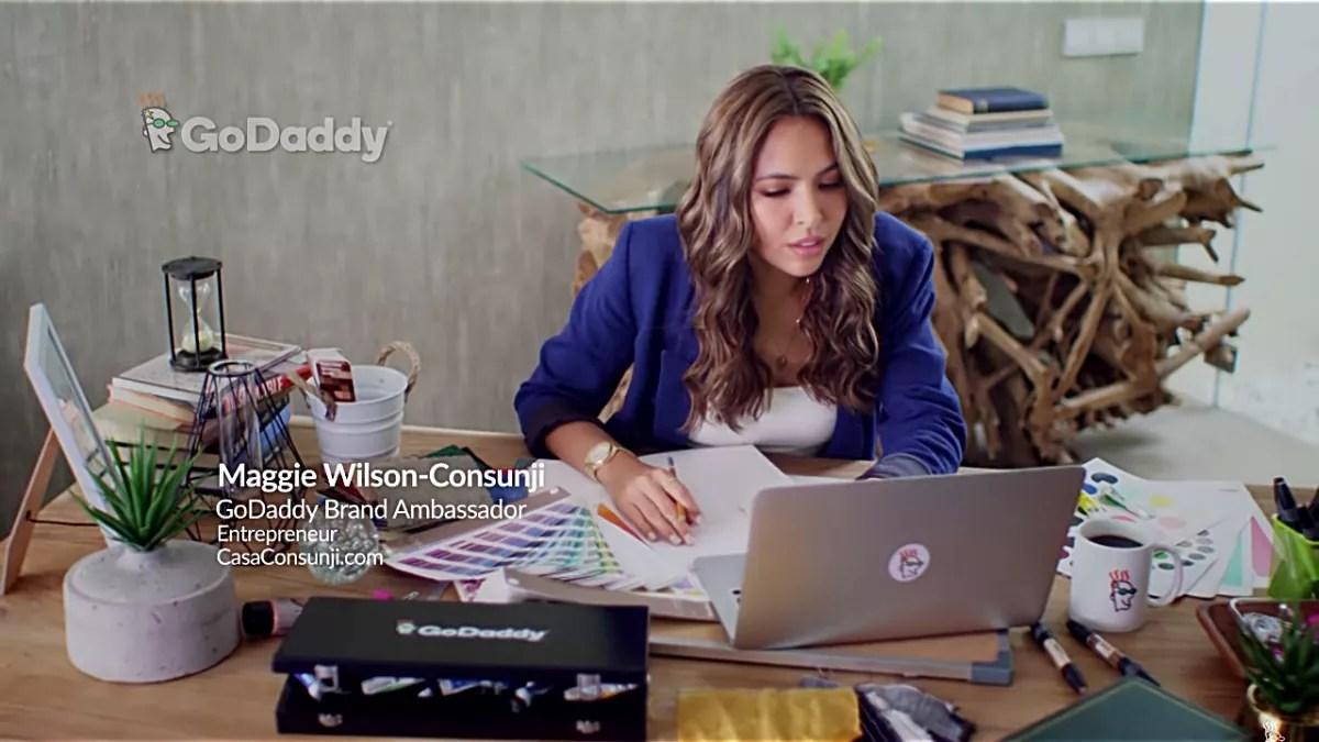 GoDaddy Brand Ambassador Maggie Wilson-Consunji