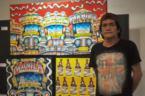 The ubiquitous Pinoy jeepney is given the artist's touch by Jojo Garcia