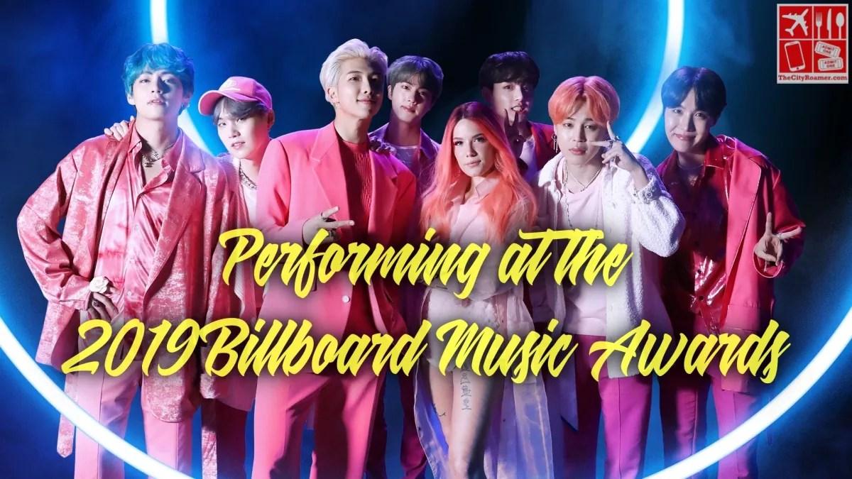 BTS and Halsey Performing at 2019 Billboard Music Awards