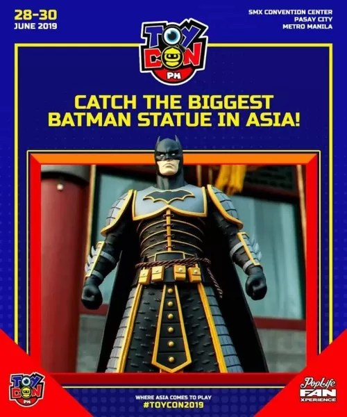 The Biggest Batman Statue in Asia will be unveiled at Toycon 2019