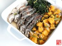 Chef Jac Laudico's Fish Soup with Kamote Fruit and Leaves and White Rice Photo by Kief Carrascal