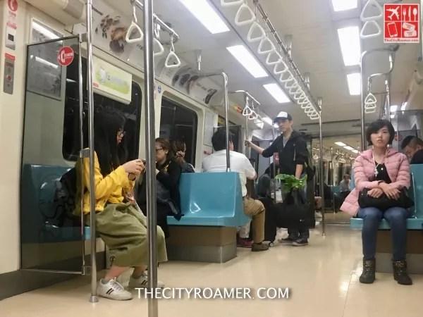 Onboard an MRT going to Taipei 101