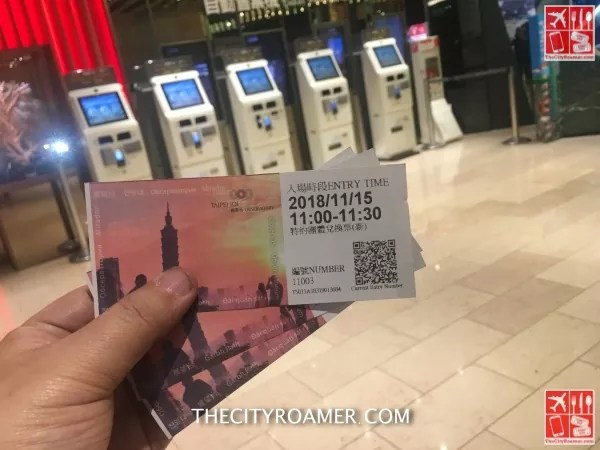 Our Taipei 101 tickets booked on Klook App
