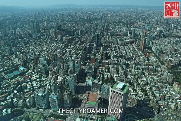 The city from Taipei 101