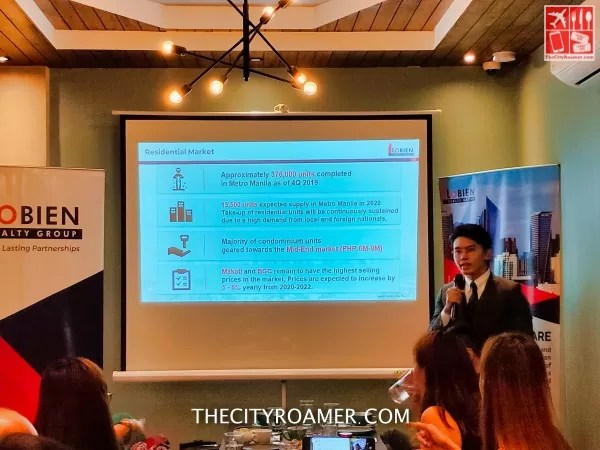Lobien Realty Group Manager JM Figurasin reported the residential market in the Philippine Real Estate market