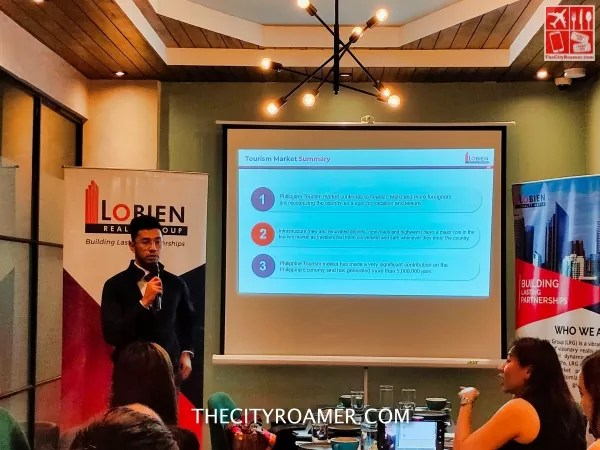 LRG Manager Enrico Isla discussed the tourism space in the Philippine Real Estate Market