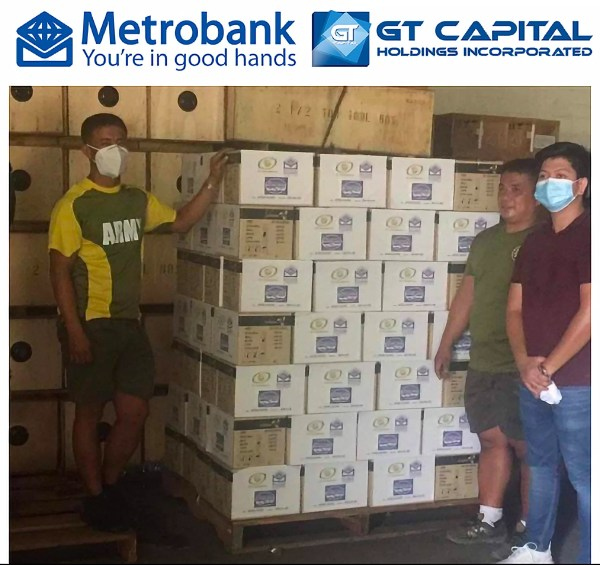 Metrobank donates PPE to AFP and PNP Frontliners