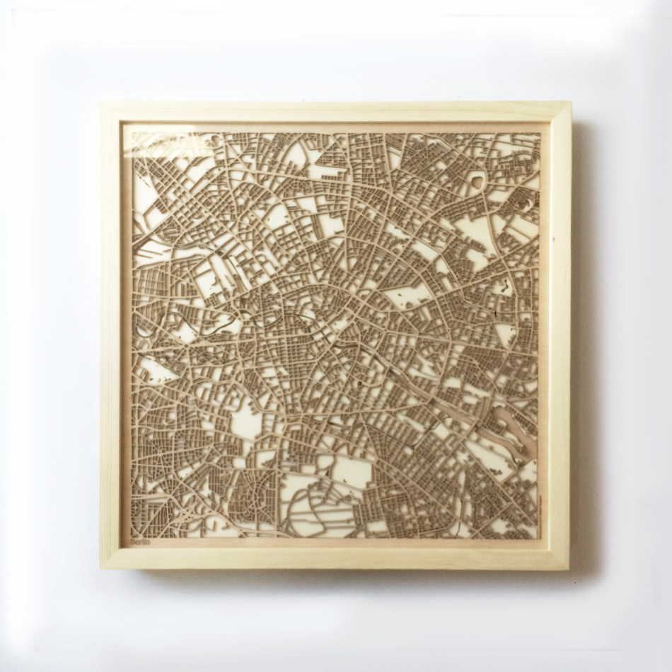 Berlin CityWood Minimal Wooden map wood laser cut maps https://thecitywood.com/ CityWood is a wooden map artwork. City streets, water CityWood - Laser Cut Wooden Maps - Award Wining Design by architect and designer Hubert Roguski