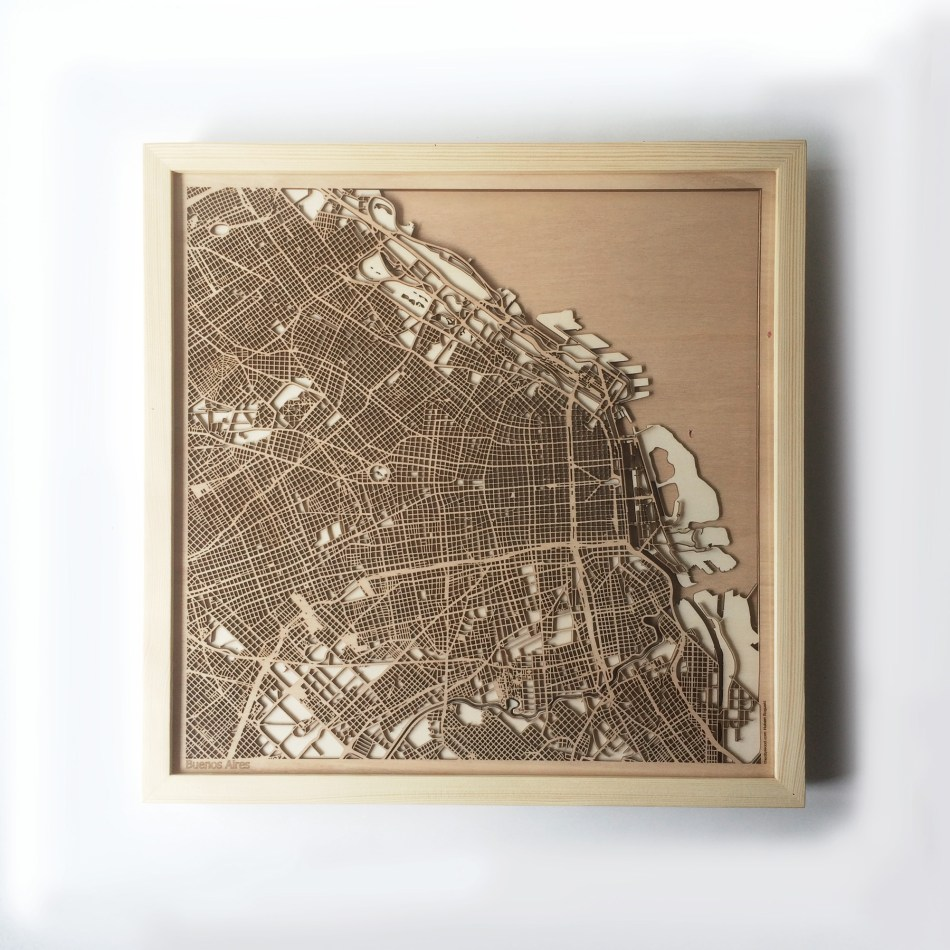 Buenos Aires CityWood Minimal Wooden map wood laser cut maps https://thecitywood.com/ CityWood is a wooden map artwork. City streets, water CityWood - Laser Cut Wooden Maps - Award Wining Design by architect and designer Hubert Roguski
