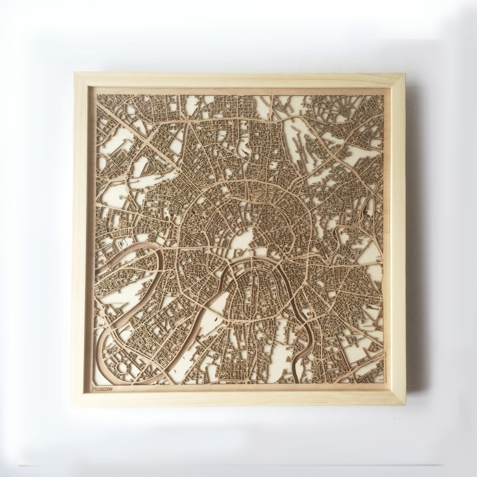 Moscow CityWood Minimal Wooden map wood laser cut maps https://thecitywood.com/ CityWood is a wooden map artwork. City streets, water CityWood - Laser Cut Wooden Maps - Award Wining Design by architect and designer Hubert Roguski