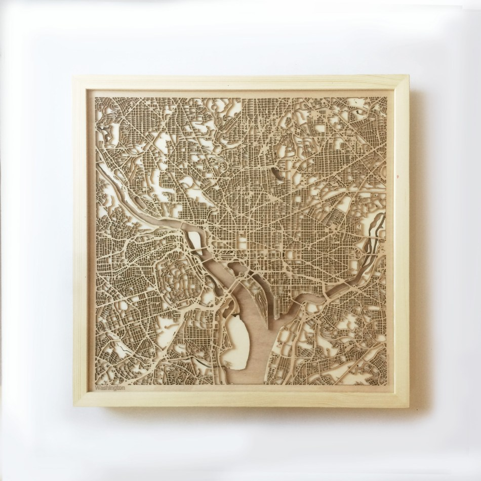 Washington CityWood Minimal Wooden map wood laser cut maps https://thecitywood.com/ CityWood is a wooden map artwork. City streets, water CityWood - Laser Cut Wooden Maps - Award Wining Design by architect and designer Hubert Roguski