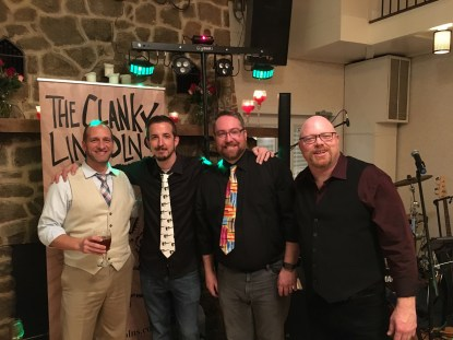 Cover band branding The Clanky Lincolns