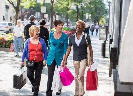 seniors shopping in downtown chicago