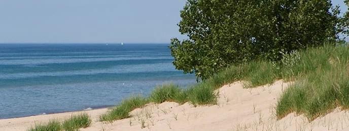 Indiana Dunes National Lakeshore beachfront