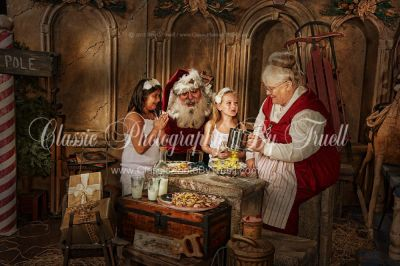 Milk and Cookies with Santa and Mrs Claus